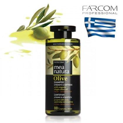 Šampūns visiem matu tipiem Farcom Mea Natura Olive Vitality & Shine, 300ml