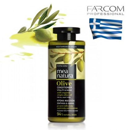 Kondicionieris visiem matu tipiem Farcom Mea Natura Olive Vitality & Shine, 300ml
