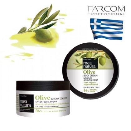 Krēms ķermenim Farcom Mea Natura Olive Moisture & Nourishment, 250ml