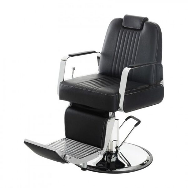 Barber krēsls 8751-1, melns