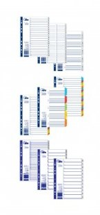 Sadalītājs dokumentiem FORPUS 1-5 krāsains A5