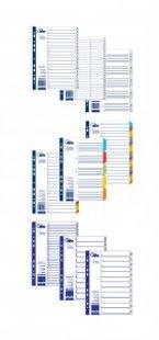 Sadalītājs dokumentiem FORPUS 1-5 krāsains A4