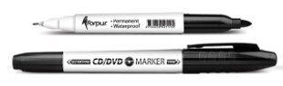 Marķieris Forpus permanents CD/DVD divpusējs 0.6mm/1.0mm