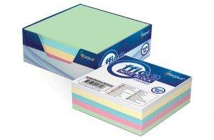 Papīrs piezīmēm Forpus kastē 90x90mm, 300 lpp, krāsains