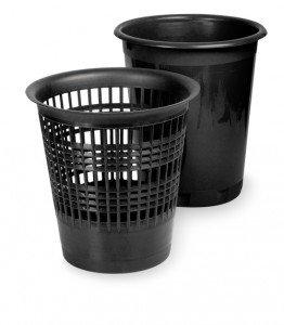 Papīrgrozs (ar caurumiem) 10l, melns