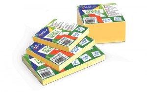 Līmlapiņas-kubs, 75 x 75 mm, dzeltenas, 400 lpp