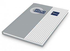 Kantorgrāmata Forpus A4, 96lpp, rūtiņu, matēta, sudraba