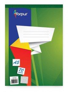 Piezīmju bloks Forpus A5, 70 lpp, rūtiņu