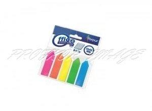 Indeksi-bultiņas Forpus, 5 krāsas, 12x44mm, 125lpp, plastikāta