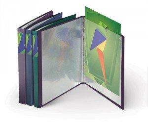 Mape prospektiem A4, 30 lpp, metāliska krāsa