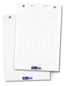 Papīra bloks tāfelēm, 65 x 100 cm, 50 lpp, balts
