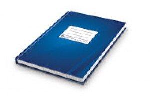 Kantorgrāmata A4,192 lpp, rūtiņu, zilā krāsā