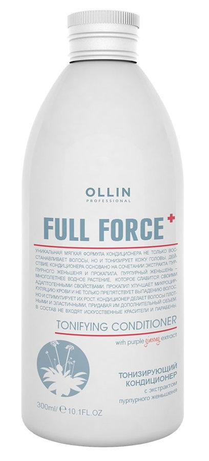 Tonizējošs kondicionieris ar purpura žeņšeņa ekstraktu OLLIN Full Force Tonifying conditioner, 300ml
