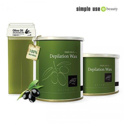 Naturālais depilācijas vasks ar olīveļļu Simple Use, 100ml